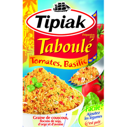 Prép. pour taboulé tomate basilic TIPIAK x12 350g