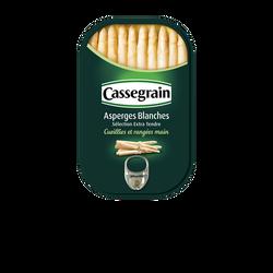Asperges blanches nature CASSEGRAIN, boîte 1/2 de 130g