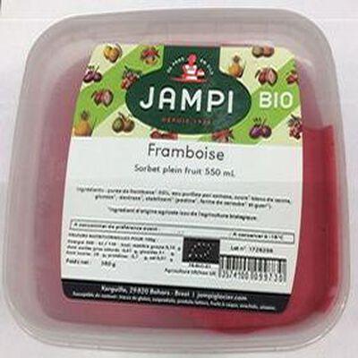 Sorbet BIO plein fruit framboise, JAMPI, 550 ML