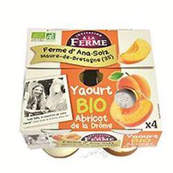 Yaourt sur lit d'abricots 4x125