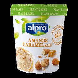 Glace végétale à base d'amandes et caramel ALPRO, 340g
