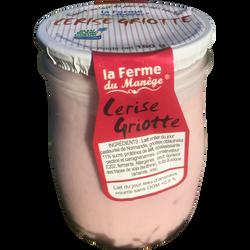 Yaourt entier au lait du jour cerises griottes LA FERME DU MANEGE, 180g