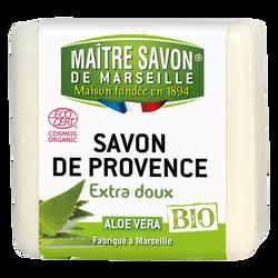 Savon bio aloe vera MAITRE SAVON DE MARSEILLE, 100g