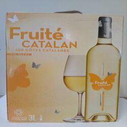 IGP côtes catalanes FRUITE BLANC,BIB 3 LITRES