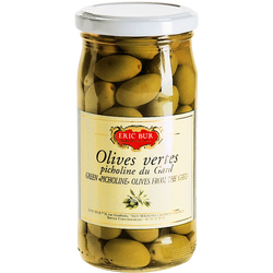 Olives vertes picholines ERIC BUR, 200g