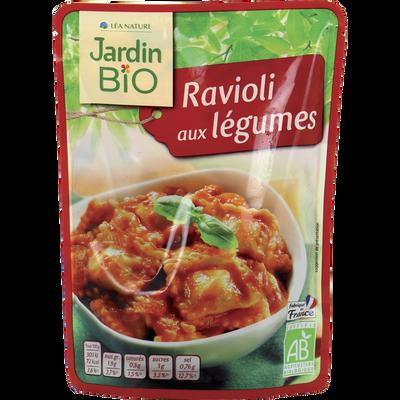 Ravioli aux légumes JARDIN BIO, doypack de 250g