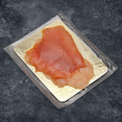 4 Tranches de saumon fumé, salmo salar, élevé en Ecosse