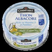 Connetable Thon Albacore À L'huile D'olive Vierge Extra Bio Msc Connetable, 160g