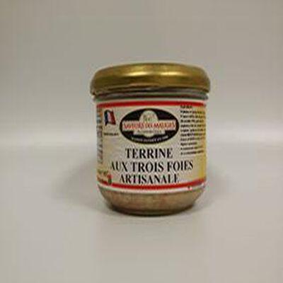 Terrine aux Trois Foies SAVEURS DES MAUGES 180g