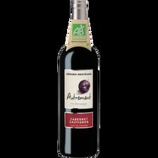 Gérard Bertrand Vin Rouge Pays D'oc Igp Bio Cabernet Sauvignon Autrement, Bouteille De75cl
