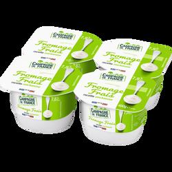 Fromage frais nature au lait pasteurisé CAMPAGNE DE FRANCE, 7,8% de MG, 4x100g