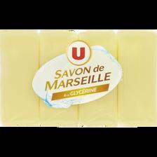 Savons de Marseille glycériné U, 4x200g