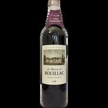 Vin rouge AOP Pessac-Léognan le Baron de Rouillac, 75cl