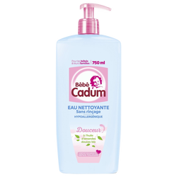 Eau pure nettoyante sans rinçage pour bébés CADUM, 750ml
