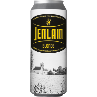 Bière blonde JENLAIN, 6,8°, canette de 50cl