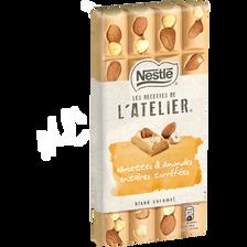 Chocolat blond caramel noisettes et amandes entières torréfiées les recettes de l'atelier NESTLE, tablette 195g
