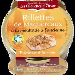 Rillettes maquereaux à la moutarde LES MOUETTES D'ARVOR, 125g