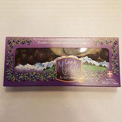 Myrtilles entière enrobée de chocolat au lait, Chocolaterie du Mont Blanc.