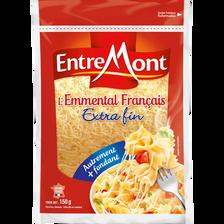 Entremont Fromage À Pâte Pressée Cuite Au Lait De Vache Thermisé Emmental Français Râpé , 29% De Mg, 160g