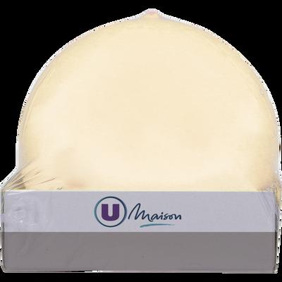 Bougie boule U MAISON, non parfumée, 78mm, ivoire