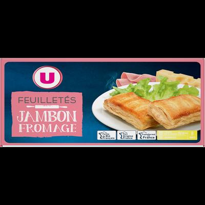 Feuilleté jambon emmental U, 8x65g soit 520g