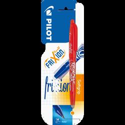 Stylo roller Frixion Ball PILOT, encre thermosensible effaçable, rechargeable, grip caoutchouté, pointe conique, écriture moyenne, orange