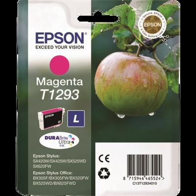 Cartouche d'encre EPSON T1293 Magenta Pomme, sous blister