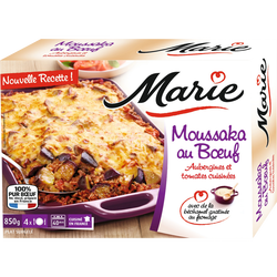 Moussaka au Boeuf Aubergines et tomates cuisinées MARIE, 850g