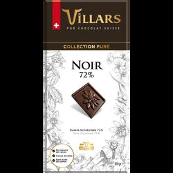 Tablette pur noir 72% cacao VILLARS tab.100g