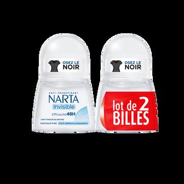 Narta Déodorant Femme Invisible Narta, 2x50ml