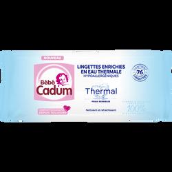 Lingettes enrichies en eau thermale pour peaux sensibles BÉBÉ CADUM, x76