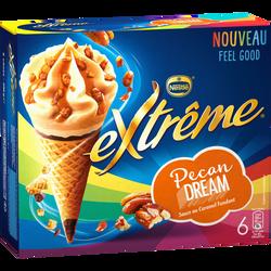 Cônes pécan dream EXTREME, x6 soit 396g