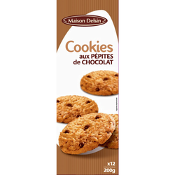 Cookies nature pépites chocolat, 200g