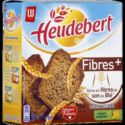 Biscottes Fibres Plus HEUDEBERT, 280g