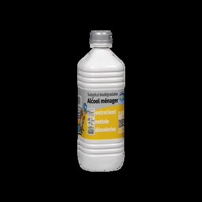 Substitut biodégradable d'alcool ménager, bouteille de 1 litre