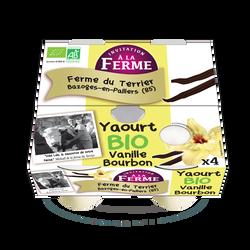 Yaourt vanille bourbon bio le terrier x 4