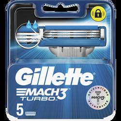 Lames de rasoir mach3 turbo GILLETTE, x5