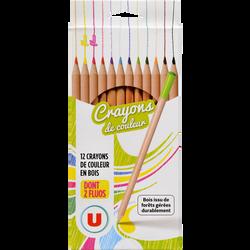 Crayons de couleur U, 18cm, pack de 12