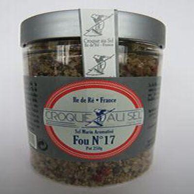 Sel marin aromatisé fou n°17, pot 250gr, Croque au sel