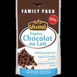 Pépites chocolat au lait VAHINE, sachet de 200g