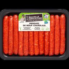 Merguez nouvelle agriculture, France, 12 pièces, barquette 660g