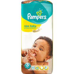 Couches prémium protection PAMPERS, 6-10kg taille 3 paquets x50
