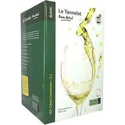 """Vin Blanc, Côtes Catalanes """"Le Tonnelet"""" - DOM BRIAL - BIB de 5L"""
