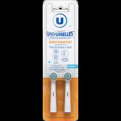 Tête de brosse à dents universelle soin complet U, x2