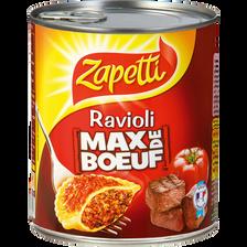 Ravioli max de boeuf ZAPETTI, 800g