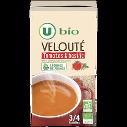 Velouté tomates et basilic Bio U, 100cl