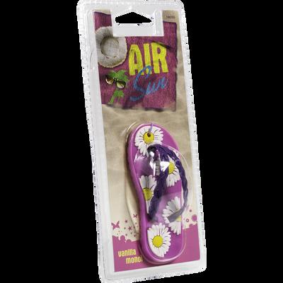 Tong parfumée Air Sun avec marguerites et lanière violette CARLINEA,rose