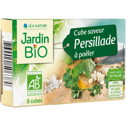 Cube saveur persillade sans huile de palme JARDIN BIO, 8x10g, 80g