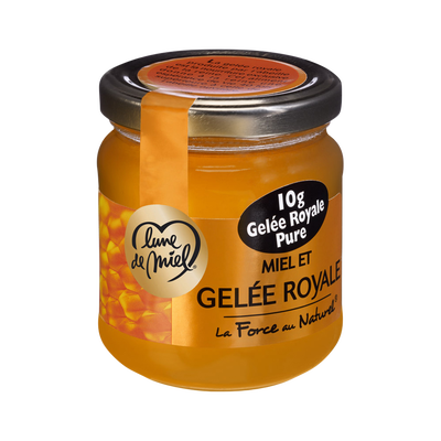 Miel à la gelée royale LUNE DE MIEL, pot en verre de 250g