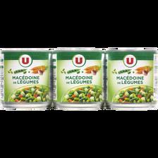 Macédoine de légumes U, 3 boites de 1/4